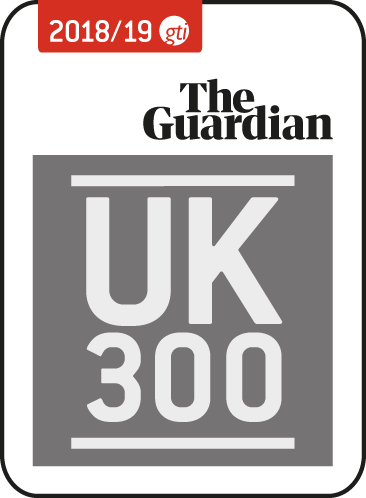 The Guardian UK 300 logo