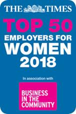 Top 50 Employers for Women 2018